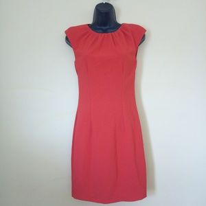 H&M Dress Size 4 Red Cap Sleeve